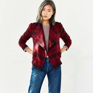 UO x BB Dakota Quinn Red Plaid Jacket